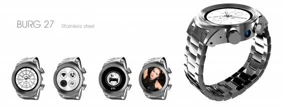 First all stainless steel smartwatch from Burg to launch at CES