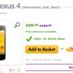 Deal – Reconditioned Google Nexus 4