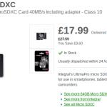 64GB microSD card deal