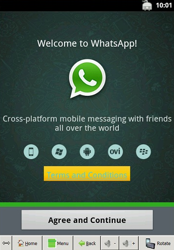 WhatsApp on top of your lap   or just on your laptop?