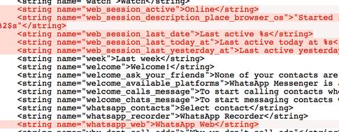 whatsapp web strings