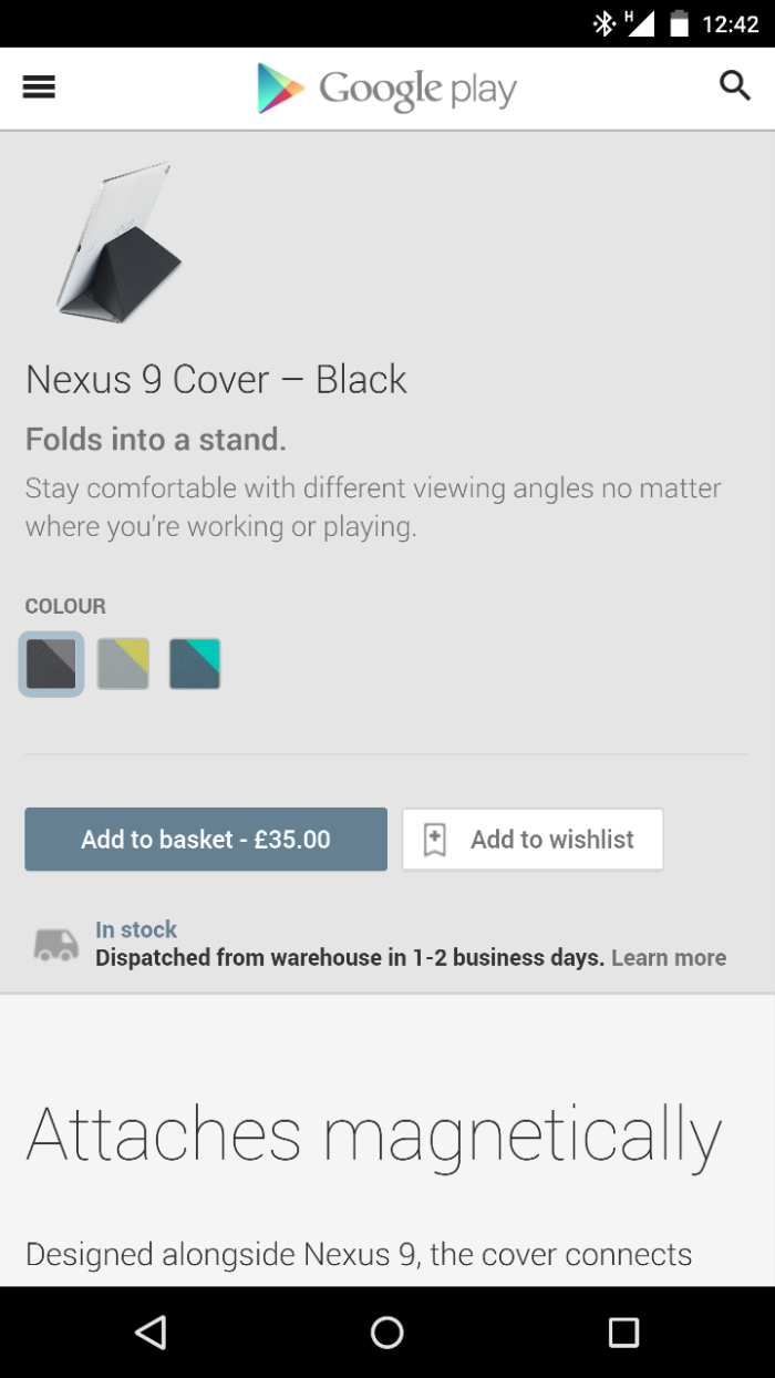 Nexus 9 Keyboard Folio now available in the UK