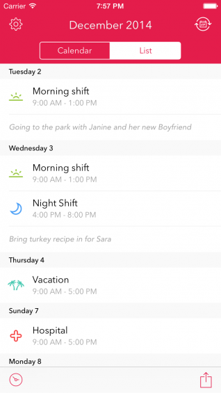 Shifts is the Must Have Calendar for Shift Workers