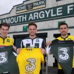 Three sponsor Plymouth Argyle away game
