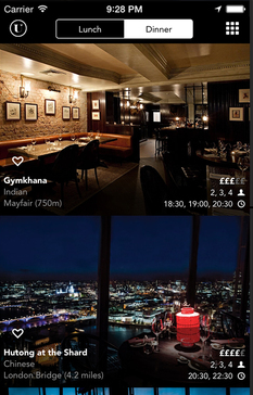 Eat tonight in London   Quick discovery and booking of restaurants