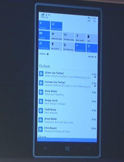 windows 10  phone tray