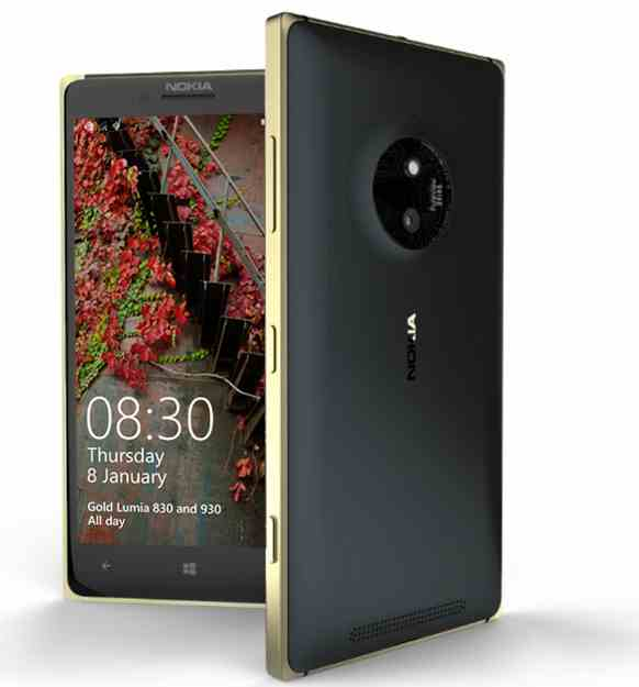 Lumia 830 and Lumia 930 to be available in gold