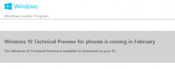 Release of Windows 10 for mobile imminent?