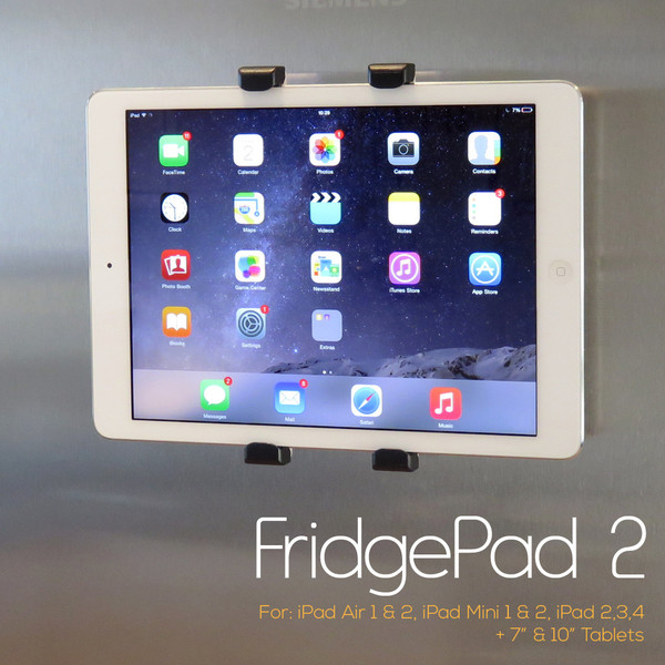 Mount your iPad or tablet on your fridge