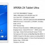 MWC – Sony reveal their new Xperia Z4 Tablet Ultra UPDATE