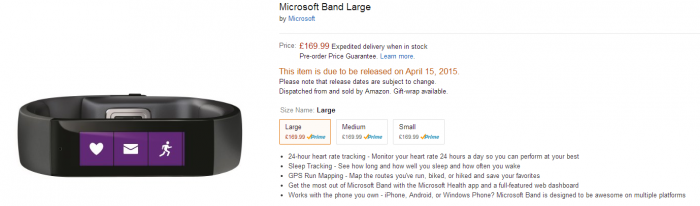 Microsoft Band UK release date announced