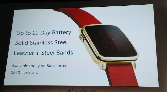 MWC   Pebble Time Steel announced