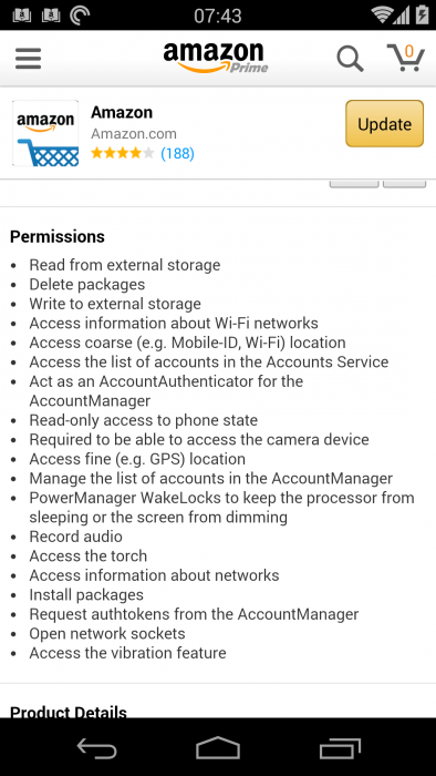 Amazon   permission much?   opinion