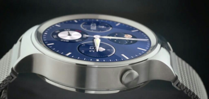 A Huawei Android Wear watch appears