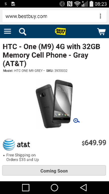 MWC   HTC One (M9) slips onto BestBuy website a little early