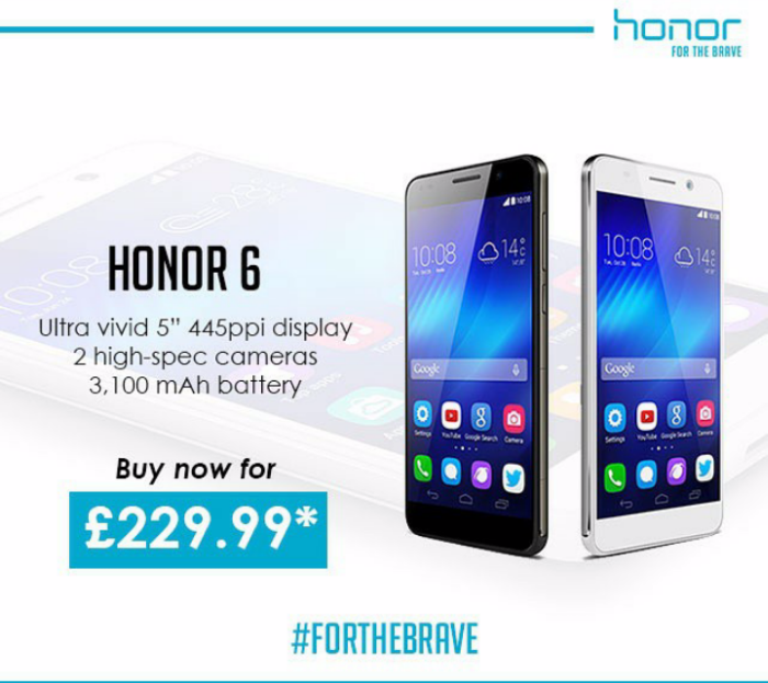 Honor 6 available from Clove for £229.99