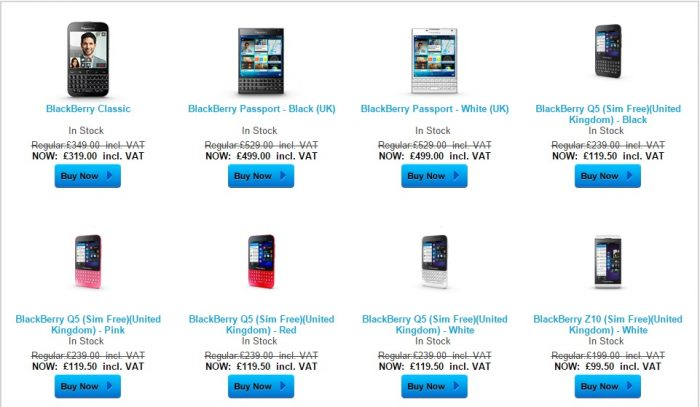 ShopBlackberry.com sale now on