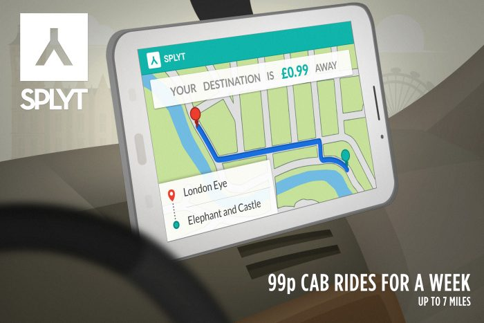 Reduce your London cab ride cost   Share the bill with SPLYT