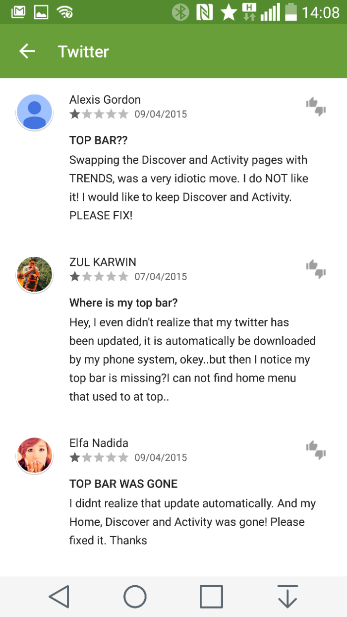 Official Twitter Android app receives annoying new update