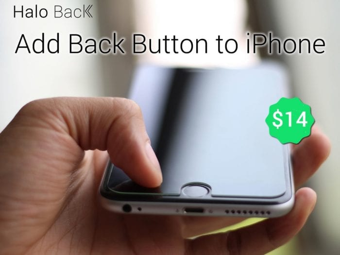 Screen Protector to give iPhone 6 and 6 Plus a back button
