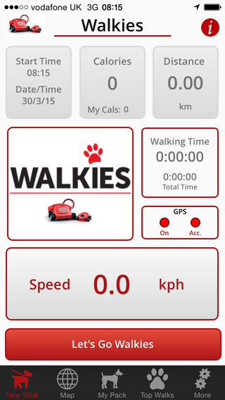 Track and share your dog walks with Walkies