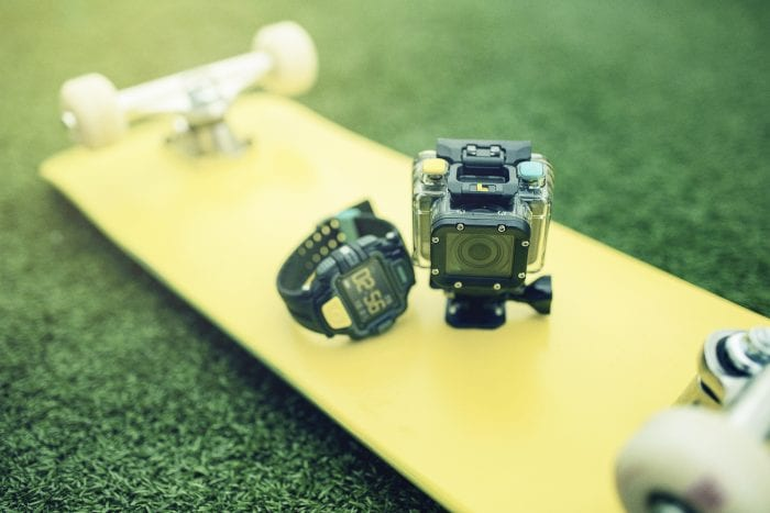 4GEE Action Cam   Skateboard, Camera & Watch