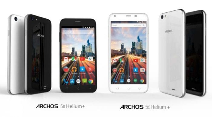 Archos 50 and 55 Helium Plus, UK bound in July.