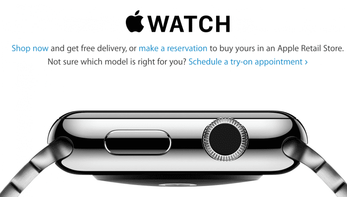 Apple watch in stores today!