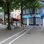 Text walking lanes introduced in Brussels