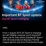 BT Mobile decide to water down free BT Sports offering