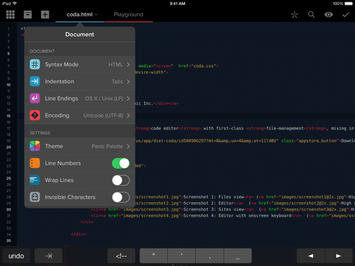 Coda 2 for iOS is an Amazing Update to a Great App