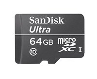 SanDisk Ultra 64GB microSD memory card, cheap price