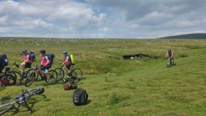Across the Pennines on a bike. Blogging on a phone