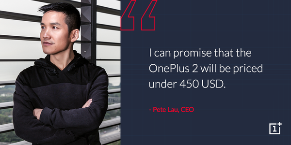 OnePlus Two to be priced under $450 (£289)