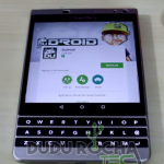 Android shown running on a BlackBerry Passport