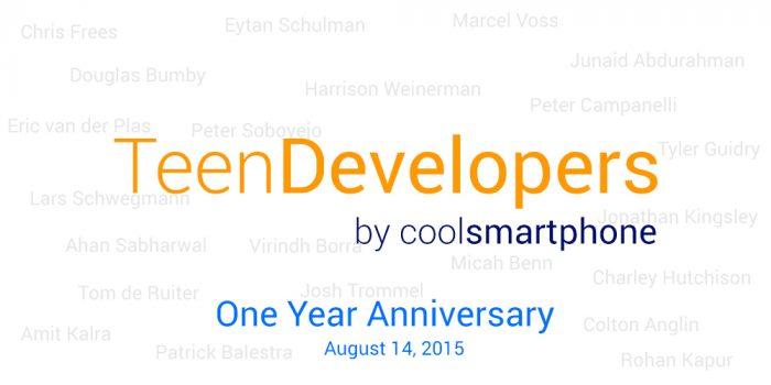 One Year Teen Developers Series Anniversary!