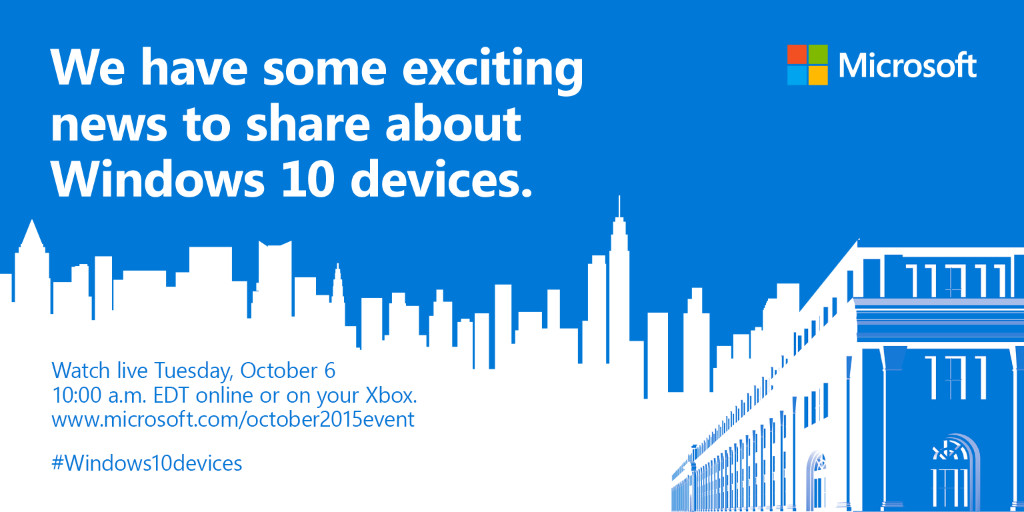 Windows 10 devices launch event confirmed for 6 October ...