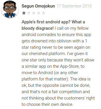 Android users really dont like Apple offering a migration tool on Google Play