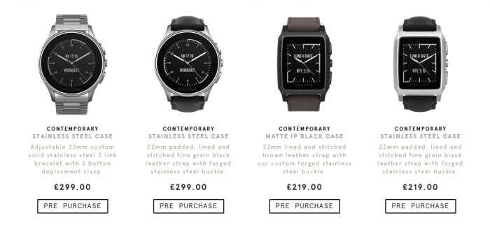 Vector smartwatch released   30 day battery life
