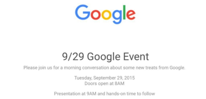 Google Event announcement set for 29th September