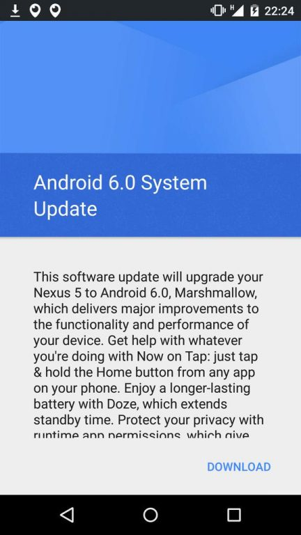 Android 6 Marshmallow OTA rolling out.
