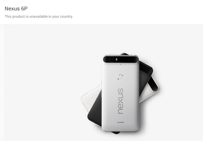 Nexus 6P   Horrible unavailable message for UK