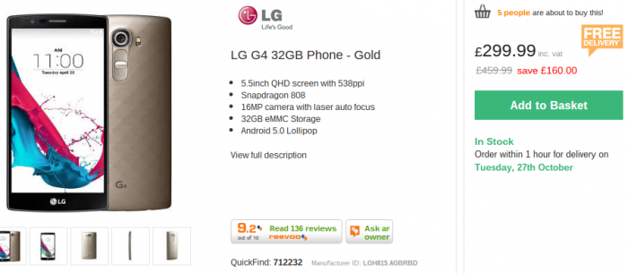 LG G4   Get the gold version for a lot, lot less