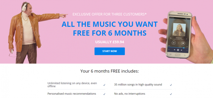 Get the Deezer Geezer for 6 months Free(zer)