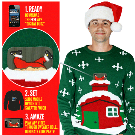 Mighty morphing Christmas jumpers!