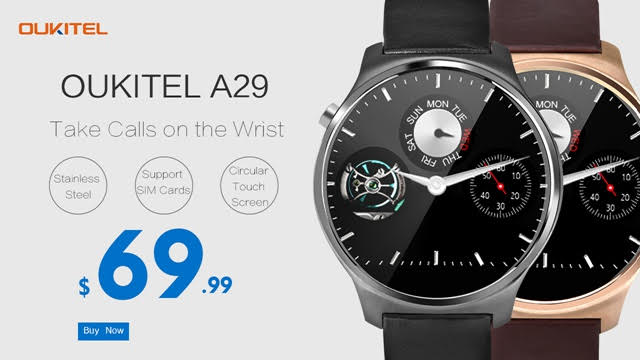OUKITEL A29   Another smartwatch, but round this time