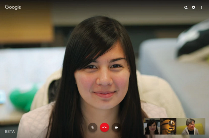 Updated Google Hangouts randomly betaing