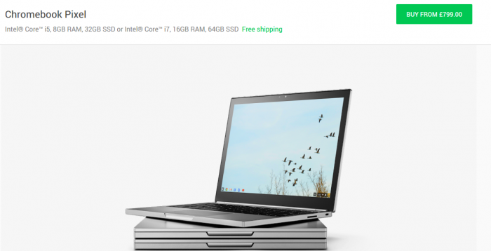 Chromebook Pixel and Pixel C now available