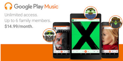 Google Play Music family plan now available in the UK too.