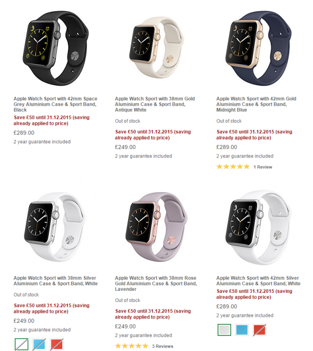 Apple Watch now reduced at John Lewis
